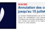 C'est officiel, la Ronde sorbérane prévue le 16 mai est annulée.